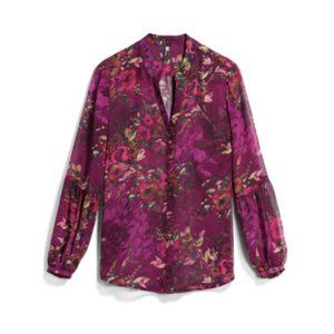 KUT FROM THE KLOTH Hals Bishop Sleeve Blouse - M